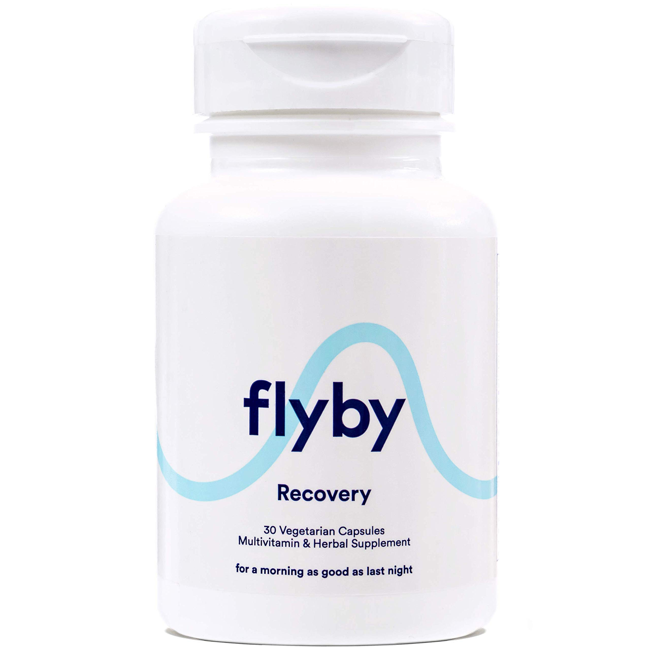 Flyby Hangover Cure & Prevention Pills (30 Capsules) - Dihydromyricetin (DHM), Chlorophyll, Prickly Pear, N-Acetyl-Cysteine, Milk Thistle for Morning After Alcohol Recovery & Aid - Certified Organic by FLYBY