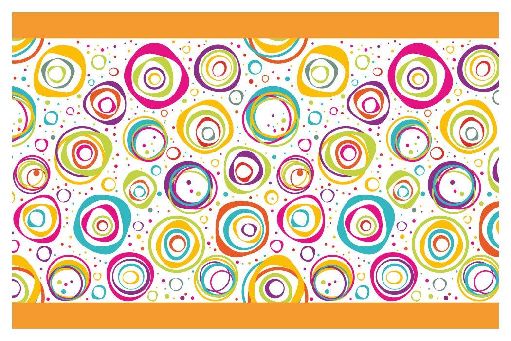 I-love-Wandtattoo b-10143 - Bordo decorativo adesivo da parete, cerchi colorati, la camera dei bambini, 5m, stripes carta da parati, decorazioni per bambini
