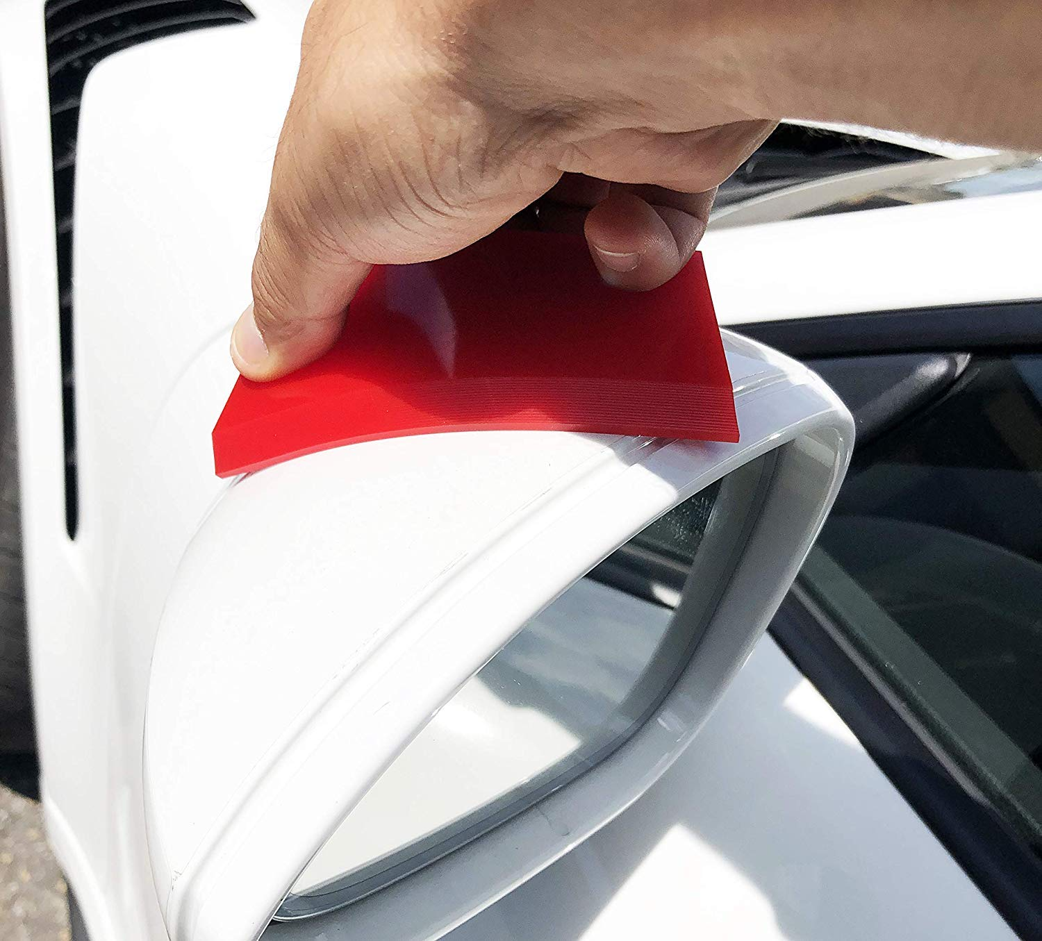 Window Tinting /& Vinyl Wrap Installation VViViD Soft Red Silicone Rubber Cropped Blade Wet-Apply Squeegee for Paint Protection Film