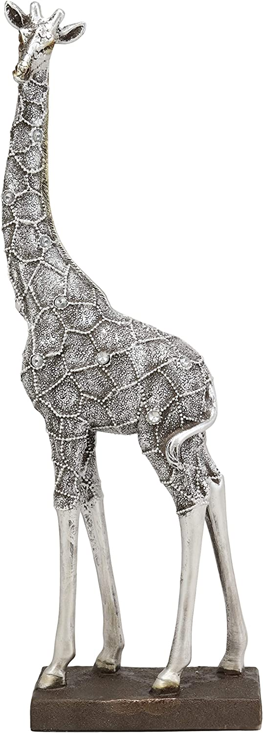 Amazon Com Ebros Large Silver Filigree Design Peering Giraffe Statue 14 Tall Safari Savannah Standing Reticulated Giraffes Long Neck Animal Figurine Madagascar Africa Wildlife Decor And Gifts Home Kitchen