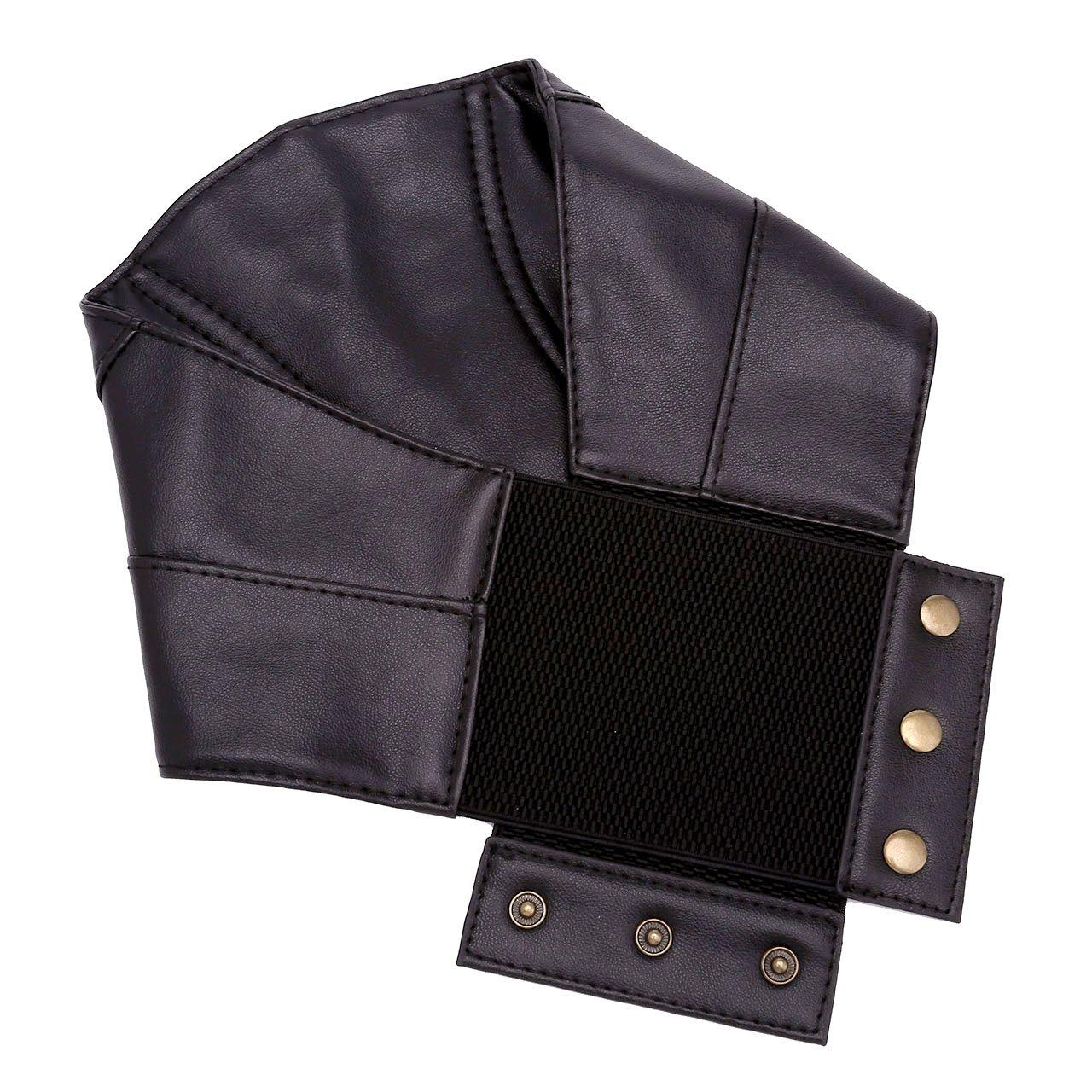 CHIC DIARY Cool Ceinture Punk à Taille Large Obi Élastique Corset Noir  Gothique Waist Training Slim Agrandir l image 7b609b03562