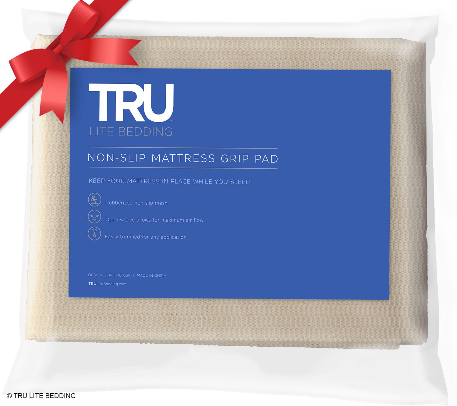 Best rated in rug pads helpful customer reviews amazon tru lite bedding non slip mattress grip pad keeps all mattress types in place for jeuxipadfo Image collections
