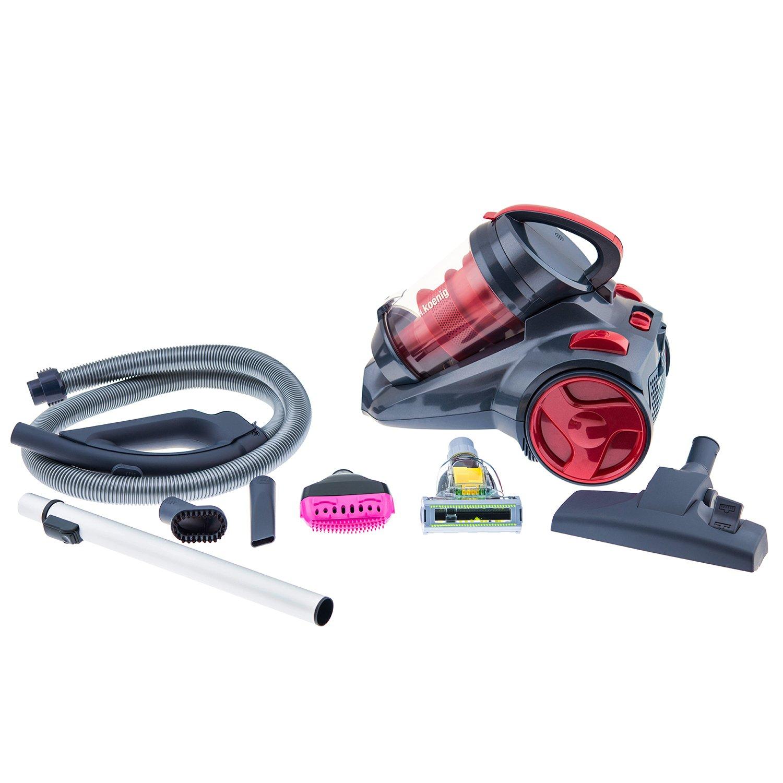 H.KOENIG SLX970 - Aspirador Multi Ciclónico sin bolsa Silence + especial mascotas, Triple A, Filtro HEPA, depósito de 2,5 L, nivel de ruido 76 dB, ...