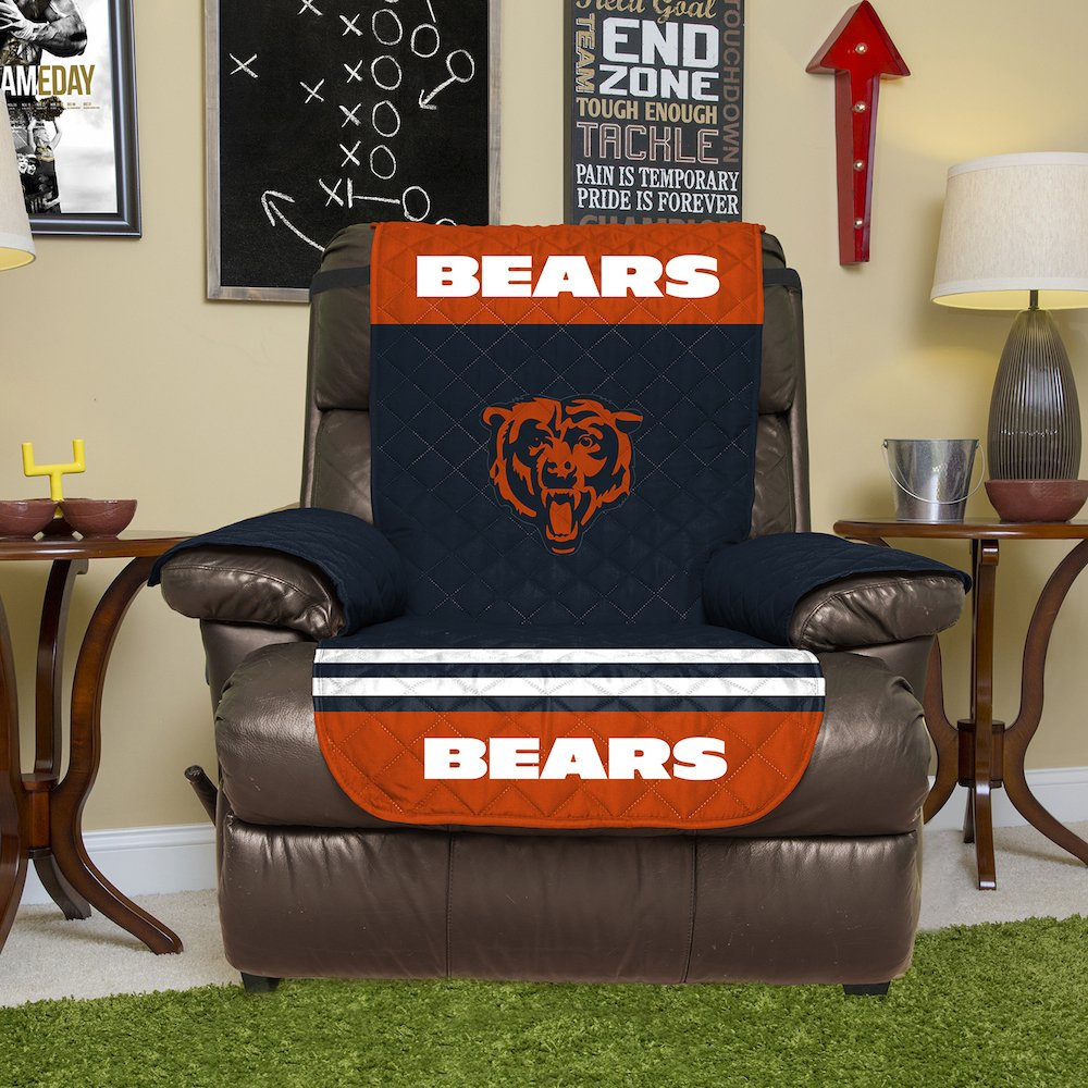 Amazon.com: NFL Chicago Bears Recliner Reversible Furniture Protector With  Elastic Straps, 80 Inches By 65 Inches: Home U0026 Kitchen