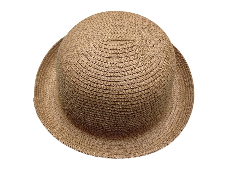 JTC Lady Straw Sun Hat Roll up Brim Bowler Visor Cap 11colors