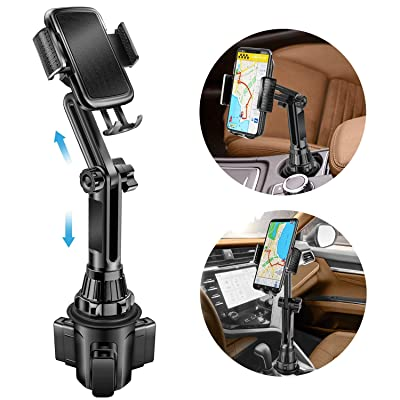 Car Cup Holder Phone Mount Adjustable Cupholder Cell Phone Cradle Car Mount with Rotatable Holder for iPhone 11 Pro/XR/XS Max/X/8/7 Plus/Samsung S10+/Note 9/S8 Plus/S7 Edge