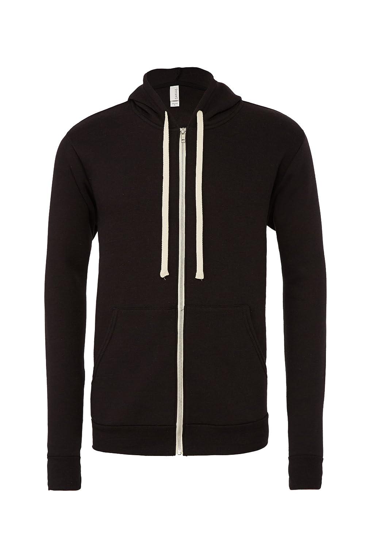 Unisex Full Zip Hooded Sweatshirt Black XXL