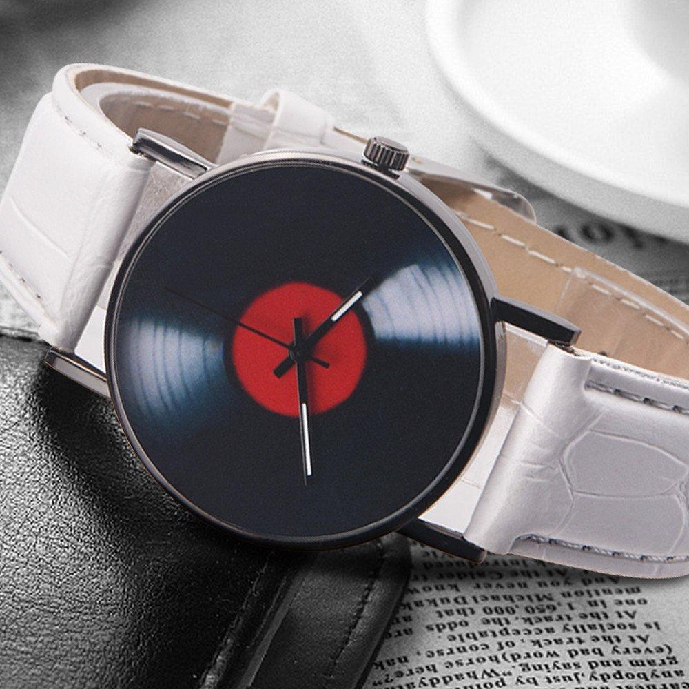 JiaMeng Relojes Pulsera Hombres Cuarzo de aleación analógico Banda de diseño Retro Unisex Casual Moda(Blanco): Amazon.es: Ropa y accesorios