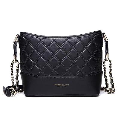 NEVEROUT Leather Hobo Bags for Women Classic Diamond Lattice Bag Handbags  Purse (black) 9c2914648960e