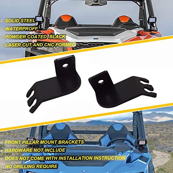 """SR Below ROOF 40/"""" LED LIGHT BAR BRACKET MOUNTS for POLARIS General 1000 Models"""