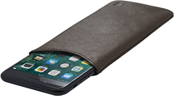 StilGut Pouch Custodia Smartphone Sleeve in Morbida Pelle di Nappa Misura XL, Moka Nappa | Compatibile tra Gli Altri con iPhone 7 Plus, iPhone 6 Plus, Samsung Galaxy Note 4, Blackberry DTEK50