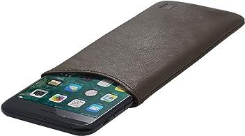 StilGut Housse Universelle pour téléphone Portable en Cuir Nappa Doux Taille XL, Moka Nappa