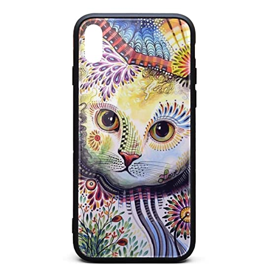 sale retailer a778b b8035 Amazon.com: Cool Phone Case for iPhone Xs Funny Big Fat cat Girl ...