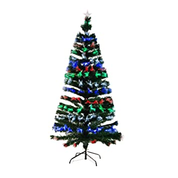 Amazon.de: Homcom 830-026 Weihnachtsbaum LED künstlicher Christ ...