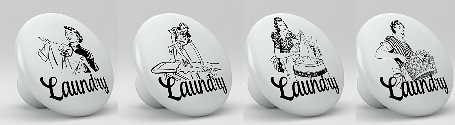 Vintage Mid Century Style Laundry Knobs Set of 4