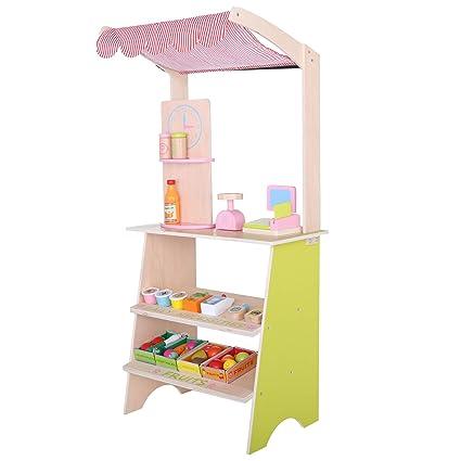 Amazon.com: Ama-store - Soporte de supermercado de madera ...