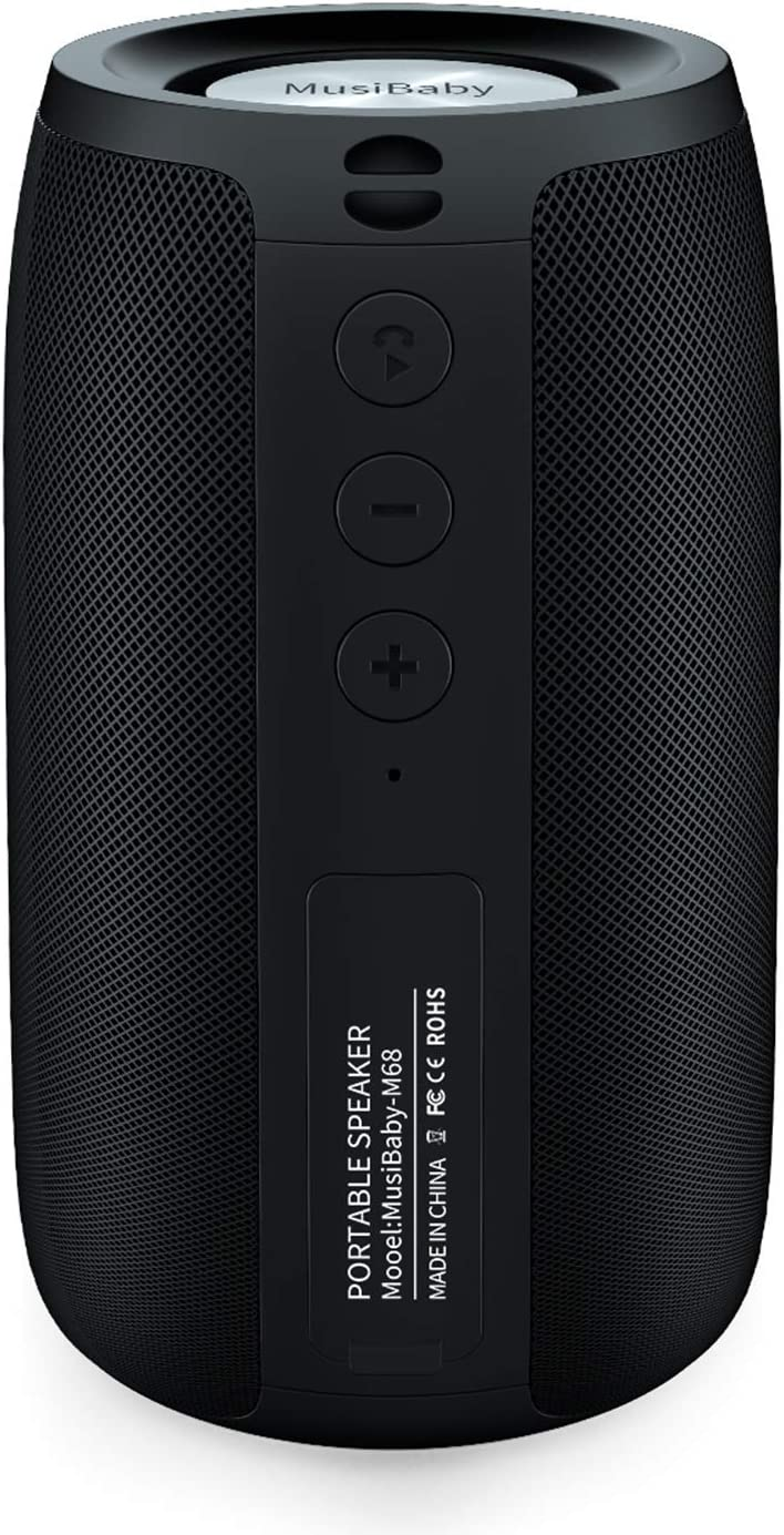 MusiBady Bluetooth Portable Waterproof Wireless Speakers $27 Coupon