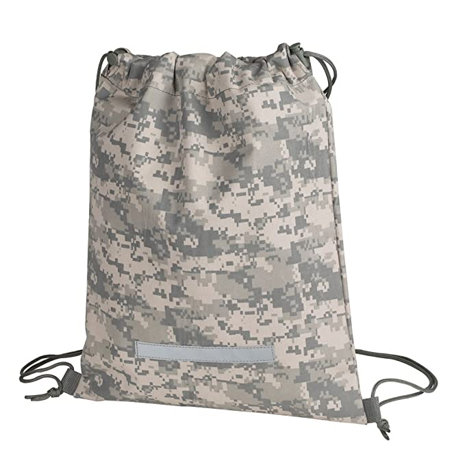 Amazon.com | Heavy Duty Drawstring Backpack in Digital Camouflage ...