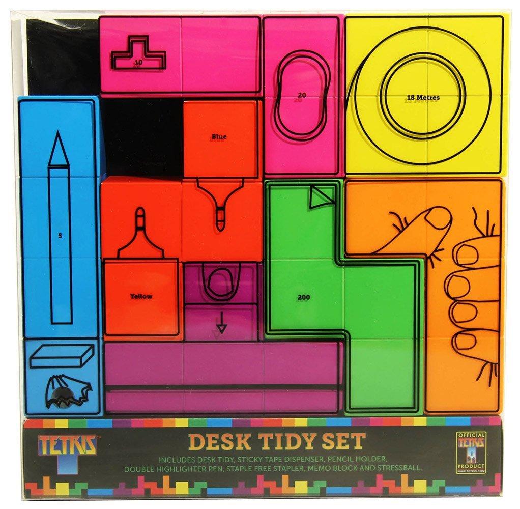 Paladone Tetris Desk Tidy, 7-Piece