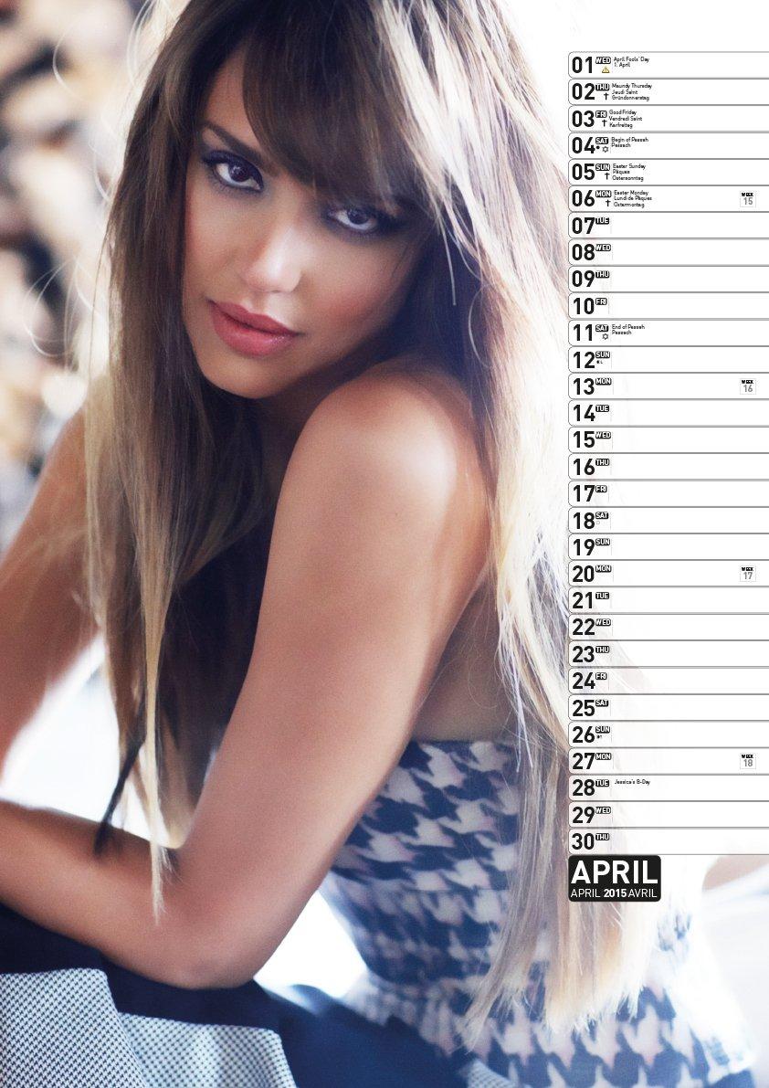 jessica alba 2013 calendar english german and french edition