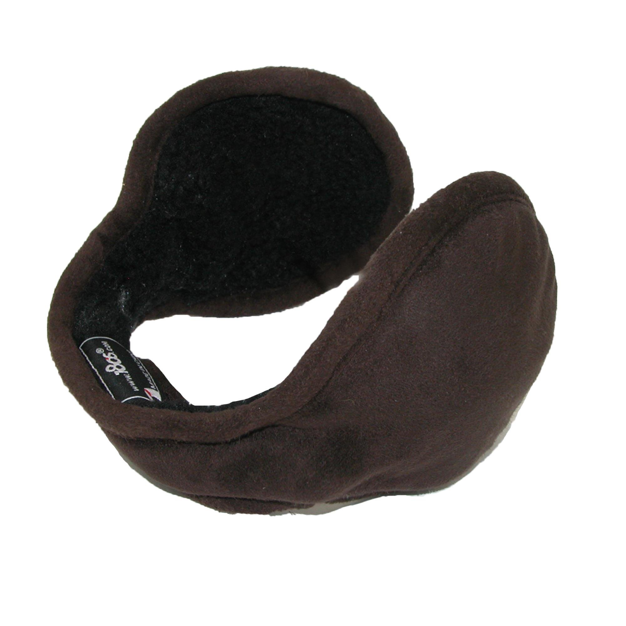 180s Men's Faux Suede Wrap Around Earmuffs, Brown