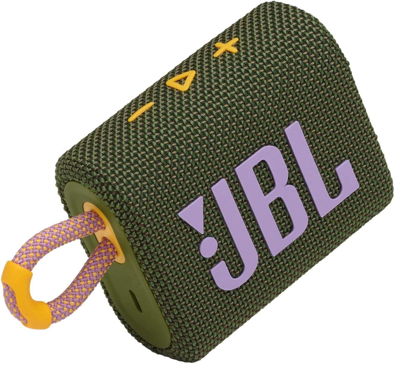 Green JBL GO 3 Small Bluetooth or on the Go Up to 5h Playback Time with Just One Battery Charge