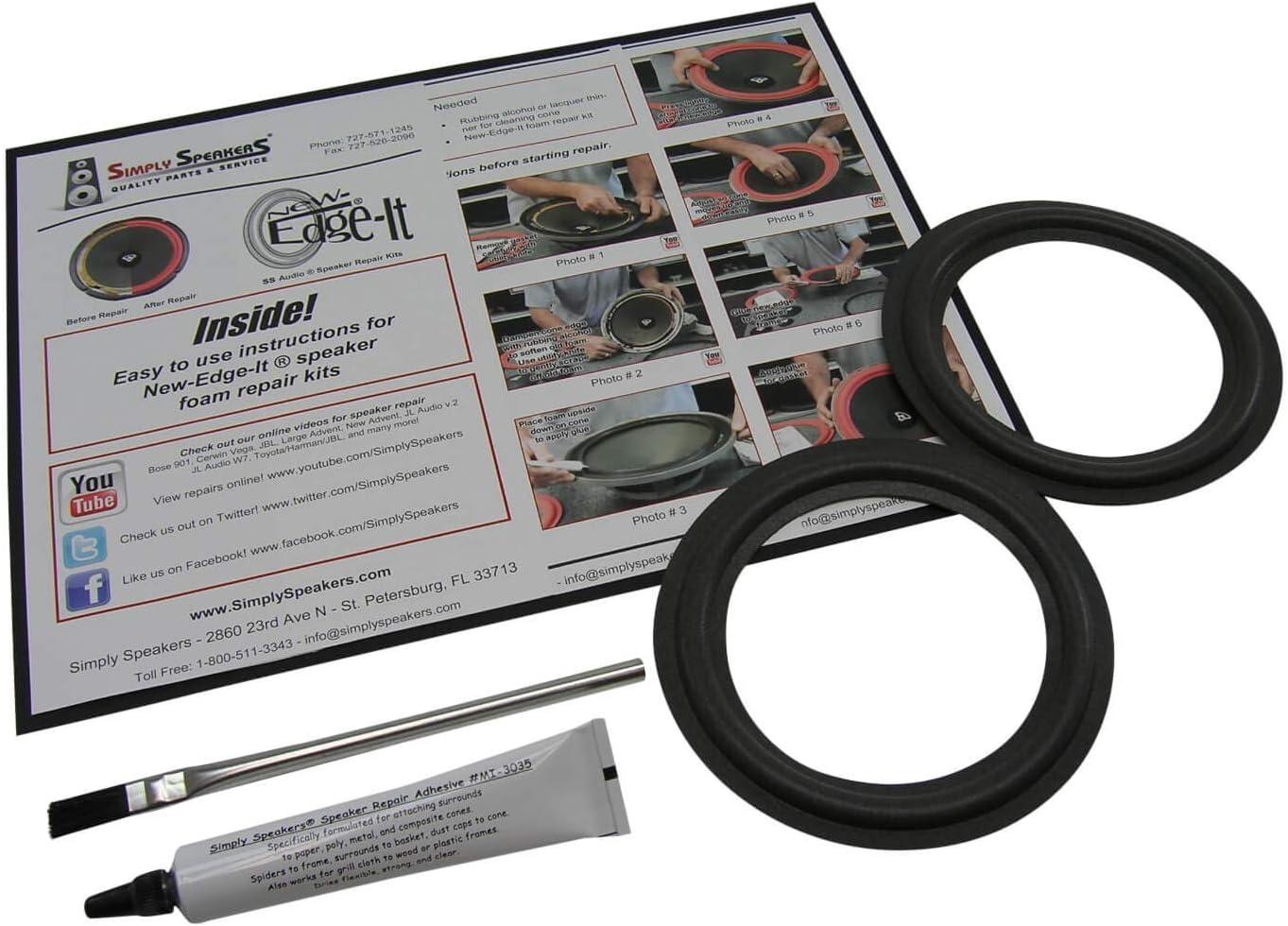 Pair Standard 5 Inch Foam Speaker Repair Kit FSK-5L