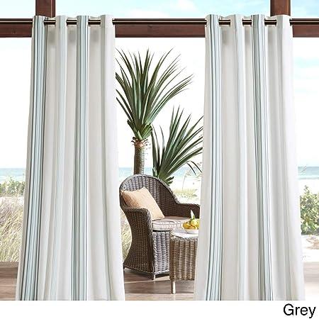 1 pieza 95, color gris color Gazebo cortina Panel único, Gris Patrón De Rayas Rugby colores exterior, interior Pergola Drapes porche, deck, patio Protector de entrada Lanai Sunroom de rayas: Amazon.es: Jardín