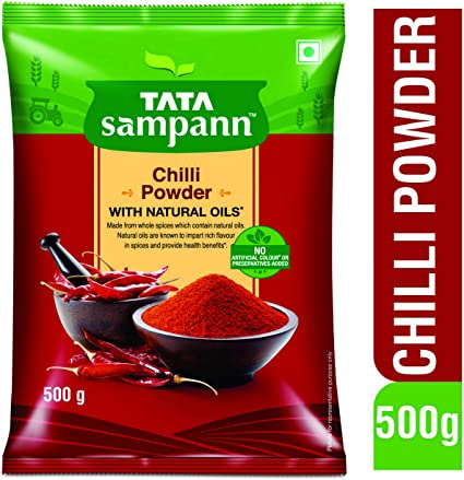Tata Sampann Chilli Powder, 500g