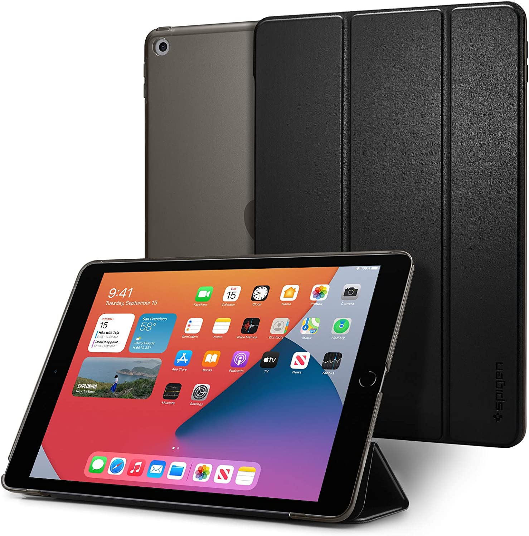 Spigen Smart Fold Kompatibel Mit Ipad 10 2 Ipad 8 Generation Hülle 2020 Ipad 7 Generation Hülle 2019 Schwarz Elektronik