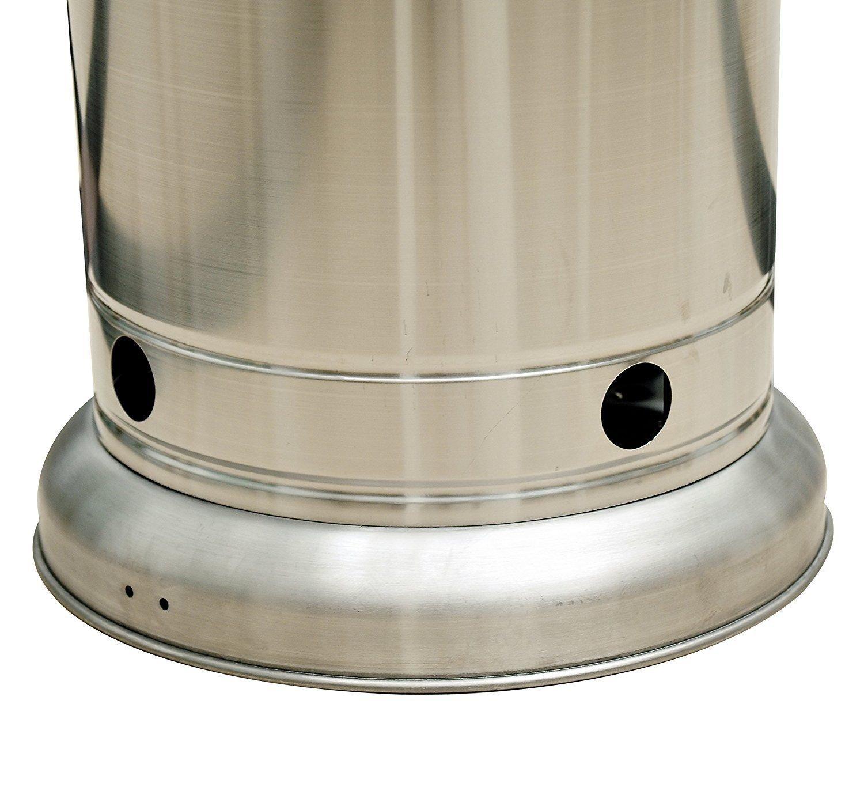 Outsunny - Estufa de gas para exterior, forma de seta, acero inoxidable, para patio: Amazon.es: Hogar