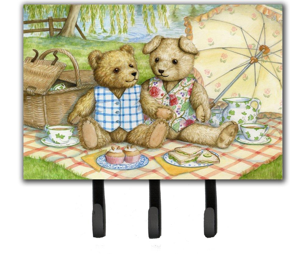 Carolines Treasures Summertime Teddy Bears Picnic Leash or Key Holder CDCO0308TH68 Triple Multicolor