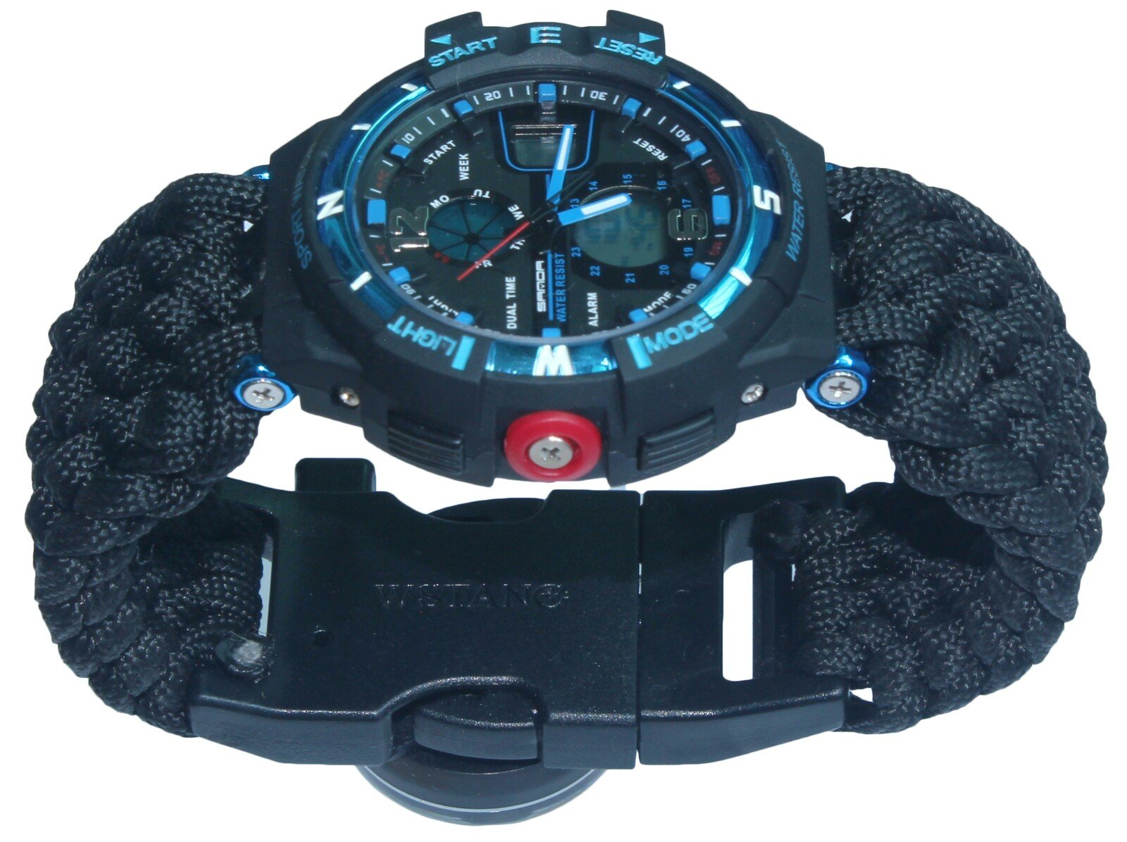 Men Child Boy Emergency Survival Watch Paracord Compass Whistle Fire Starter Analog Watches Survival Gear Water Resistant