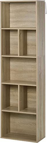 HOMCOM 5-Tier Contemporary Wood Bookcase - the best modern bookcase for the money