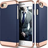 Caseology Savoy Series iPhone 8/7 Cover Case with Stylish Design Glide Protective for Apple iPhone 7 (2016)/iPhone 8 (2017) - Navy Blue