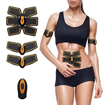 Vibration Fitness Massager Fitness & Body Building Abdominal Muscle Trainer Fitness Toner Belly Leg Arm Pad Exercise Ems Stimulation Training Muscle Stimulator Gear Body Massager Grade Products According To Quality