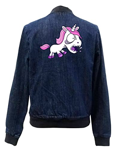 Yelling Unicorn Bomber Chaqueta Girls Jeans Certified Freak