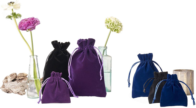 Weihnachtsverpackung Nikolausverpackung organzabeutel24 Violett Samtbeutel-Geschenkverpackung Gr/ö/ße 23x15 cm Adventskalender 12 Samts/äckchen