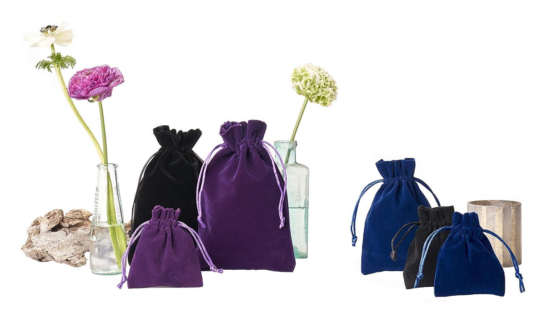 le calendrier de l`Avent emballage cadeau /él/égant pour bijoux Lot de 12 petits sacs en velours avec cordeli/ère produits cosm/étiques No/ël dimension 10 x 7,5 cm