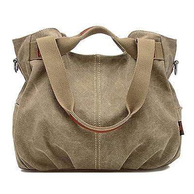 free shipping CY Women's Casual Canvas Tote Purse Bag Handbag Shoulder Messenger Bag Travel Totes Shopping Bag