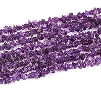 Neerupam Collection viola color pietra preziosa ametista naturale Uncut perle di chip pollici 10linee di filo allentato