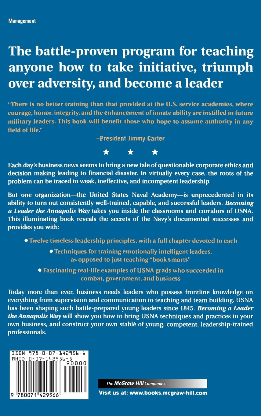 Becoming a Leader the Annapolis Way