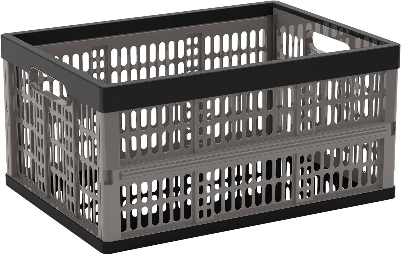 CEP 8802- Caja ultra resistente, plegable ligera 45,7x 34,5x 23,5cm negro/gris