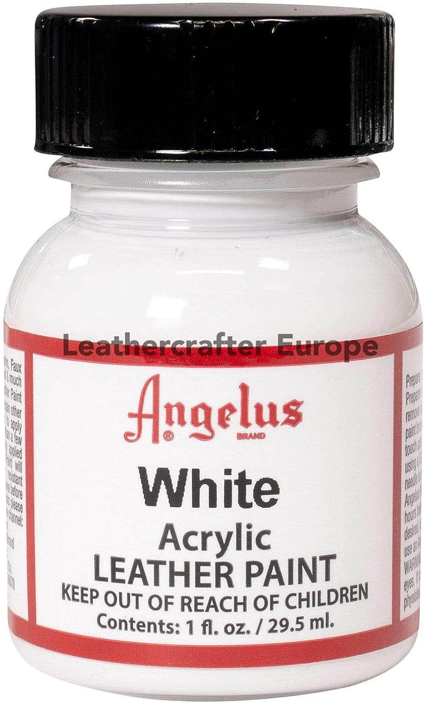 Angelus - Pintura acrílica para cuero (29,5 ml), color blanco