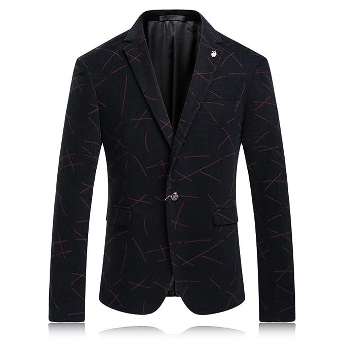 Amazon.com: vazpue trajes Blazers a rayas Mens Chaquetas ...
