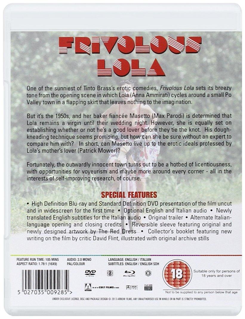 Frivolous Lola [Dual Format DVD U0026 Blu Ray]: Amazon.co.uk: Anna Ammirati,  Patrick Mower, Max Parodi, Tinto Brass: DVD U0026 Blu Ray