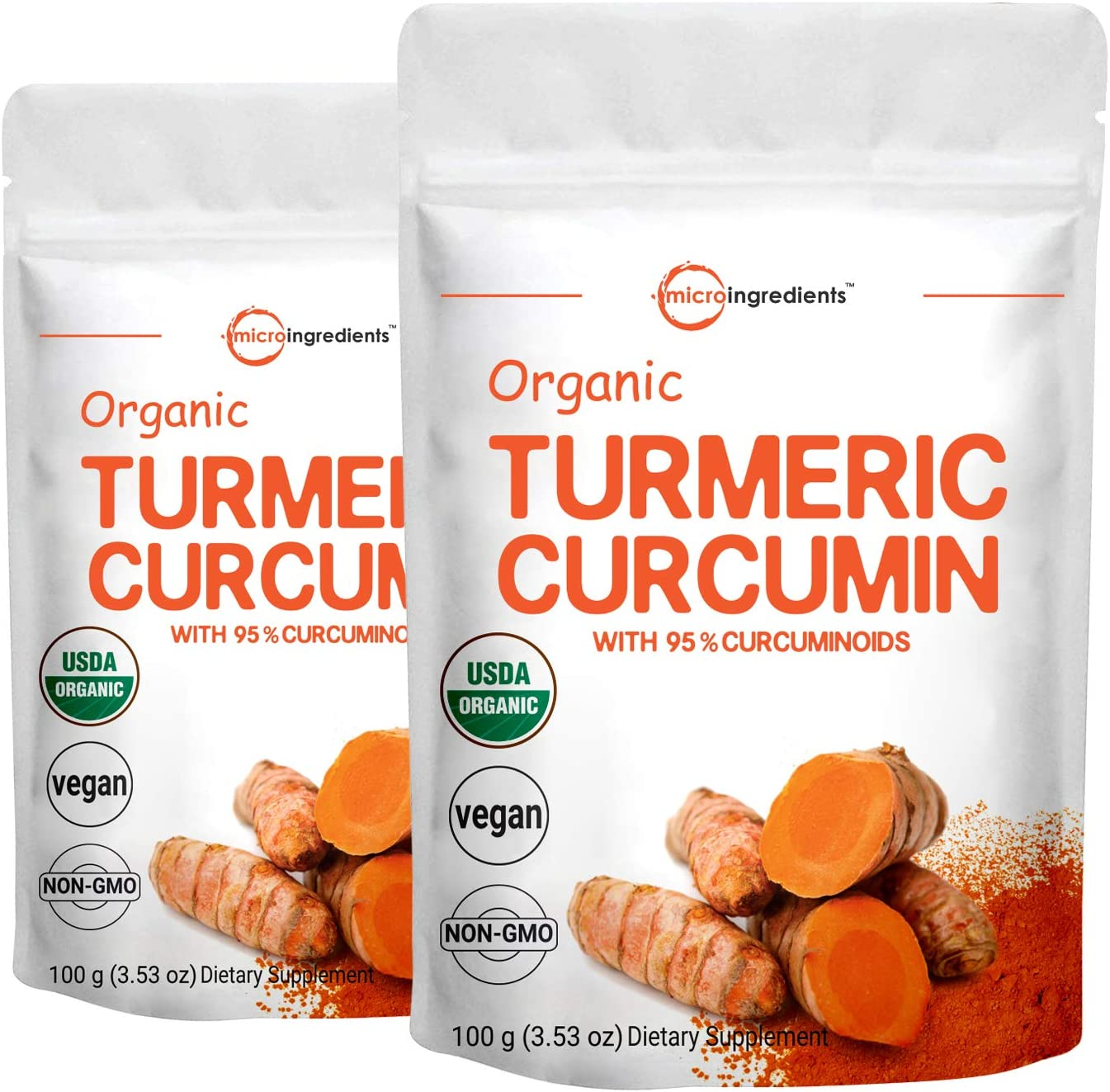 2 Pack Maximum Strength Organic T Sales for sale Powder Pure Curcumin Natural Max 90% OFF