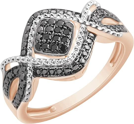 Prism Jewel 0.30Ct Round Green Diamond With Diamond Anniversary Ring