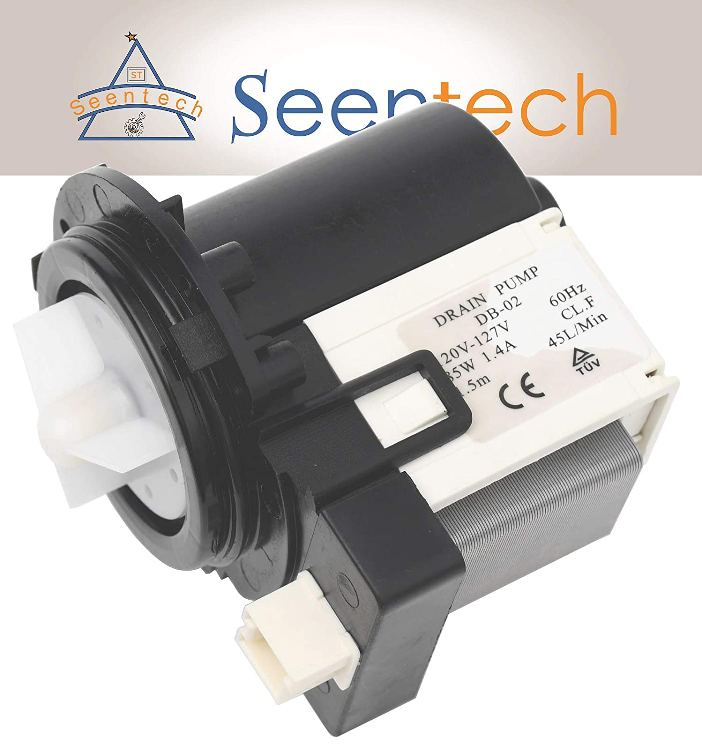 DC31-00054A Washer Drain Pump for Samsung Maytag Kenmore Washing Machines by Seentech - Replaces Part Numbers AP4202690, 1534541, DC31-00016A, PS4204638