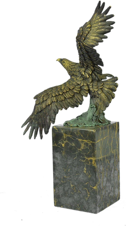 excellent Vintage Bronze Old eagle patina owl Statue